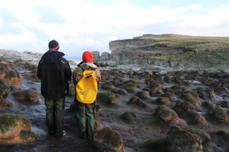 Looking out towards the fur seals. Photo: Kayleigh Jones