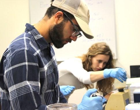 Clayton Wandishin, Vanderbilt University and Austin Alexander, OSU Biochemistry & Biophysics undergraduate
