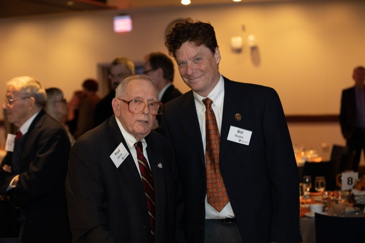 Fred Horne and mathematics Head William Bogley
