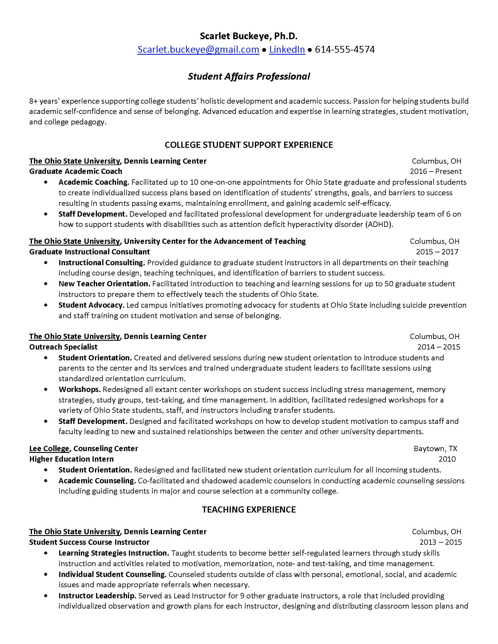 alumni relations manager cover letter