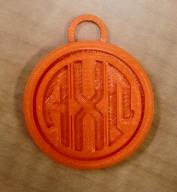Alpha Chi Omega Keychain by Josie Carlton
