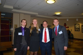 Greek Dinner 2013- President, VP, and VP of Finance with RNC Chairman Priebus