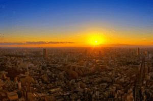 六本木ヒルズ,日の出,朝焼け,夕焼け,絶景
