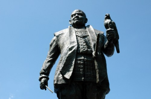 徳川家康の銅像