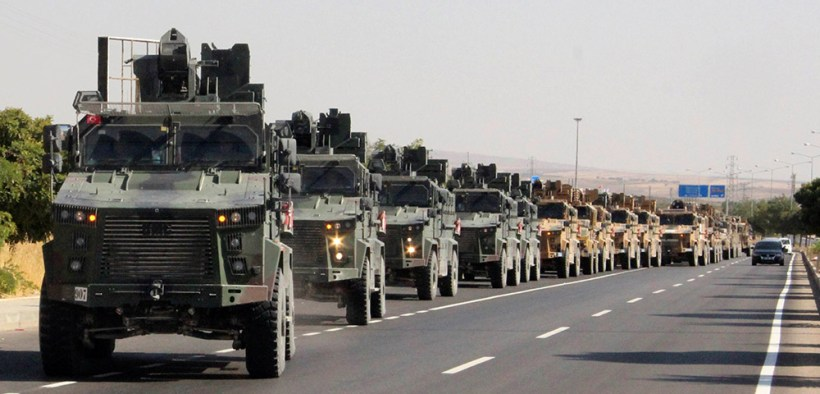 TURKEY MILITARY CONVOY SYRIAN BORDER