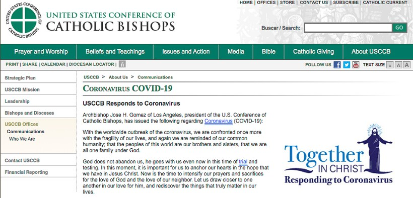 USCCB website