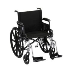 Transport Wheelchair Nova Royal Throne Chair Wheelchairs Rentals Chairs Oswald S Pharmacy Lightweight Aluminum Hammertone Steel Frame With Black Padding And Acessories 18
