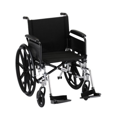 transport wheelchair nova vintage school chair 16 lightweight w full arms footrests oswald s