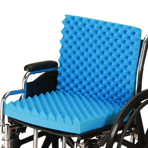 wheelchair cushion chair desk design nova convoluted foam oswald s pharmacy egg crate style blue with no cover