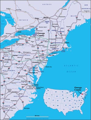 Map Of Nys Thruway Exits : thruway, exits, Thruway, Exits, Maping, Resources