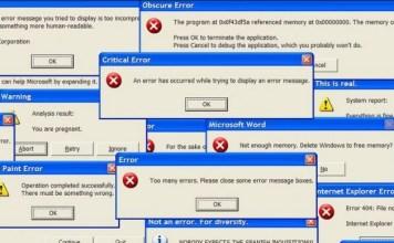A Few Common Computer Errors