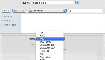 Converting File Formats in Mac OS X