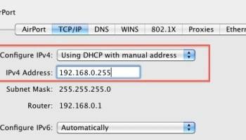 Find a Router IP Address in Mac OS X