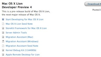 Mac OS X Lion Developer Preview 4 Update Released to Download