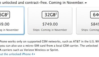 Buying an iPhone 4S Without a Contract Makes it Unlocked