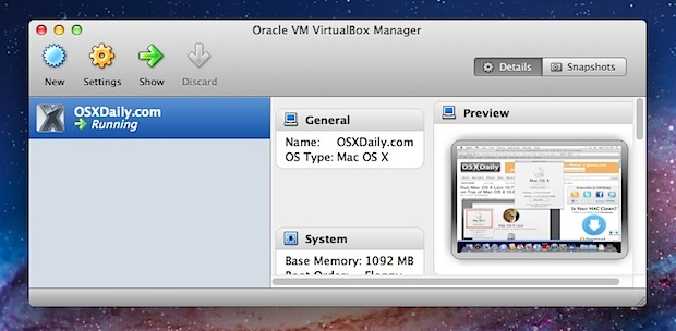 Mac OS X Snow Leopard in a VM on top of Lion