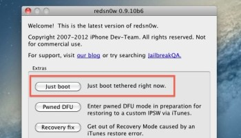 Redsn0w 0 9 10b6 Tethered Jailbreak for iOS 5 1 Available to
