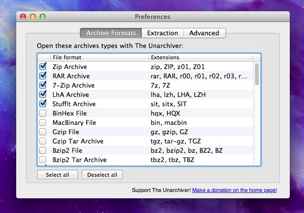 Open .7z files on a Mac