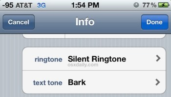 iphone ringtone for contacts