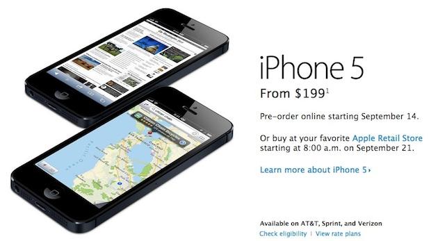 Phone 5 Pre-Orders