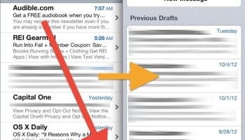 Quickly Open Last Saved Email Draft in iOS Mail