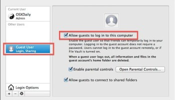 Disable the Guest User Account at Mac OS X Lion Login Screen