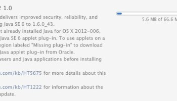 Java Update for Mac OS X 10 7 & 10 6 Available via Software