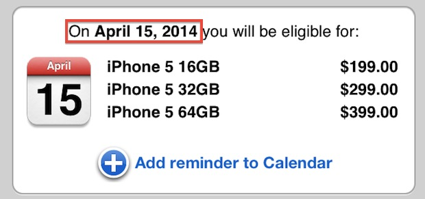 Find out when iPhone is eligible for upgrade