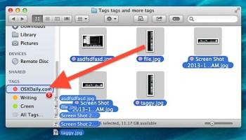 Selecting Multiple Files in Mac OS X