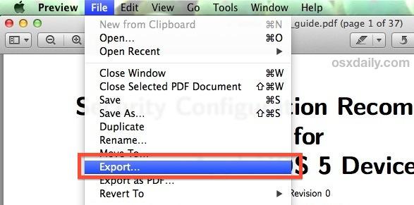 convertir pdf a jpg mac