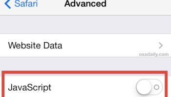 How to Disable Javascript on iPhone & iPad