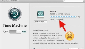 Fix Slow Time Machine Backups on a Mac