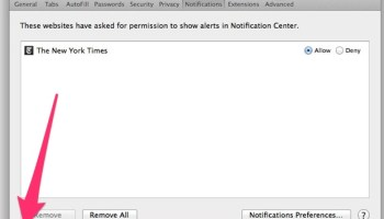 How to Stop Web Site Push Notifications in Mac OS X