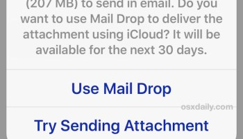 How to Use Mail Drop in iOS for Sending Large Files via Email