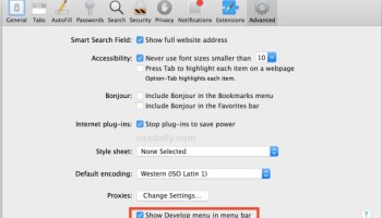 How to Enable the Develop Menu in Safari for Mac
