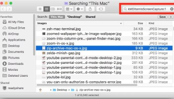 Take better screen shots in mac os x with 6 pro tricks tips how to find all screen shots on mac with a search trick ccuart Images