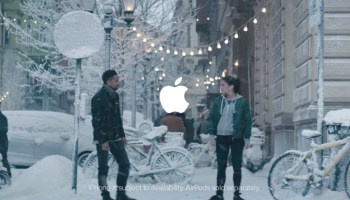 apple now airing holiday commercial