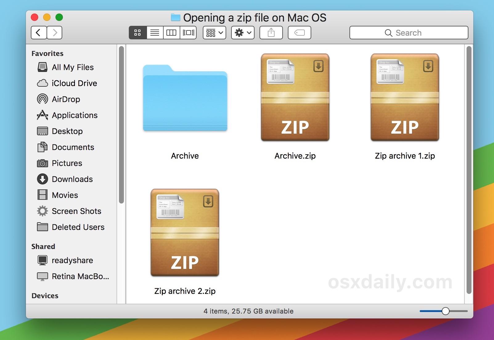 Open .7z files on a Mac