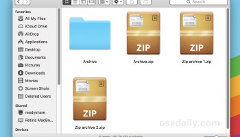 Create & Extract bz2 Archives in Mac OS X