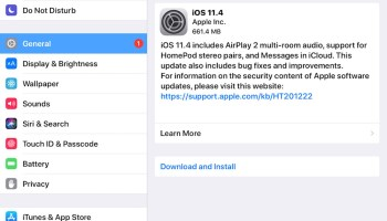 iOS 11 3 1 Update Released for iPhone and iPad, Download Now