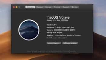 MacOS Mojave Compatible Macs List