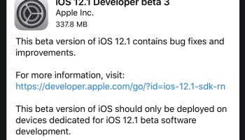 iOS 12 0 1 Update Released for iPhone & iPad [IPSW Download