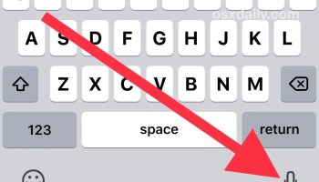 Turn Dictation OFF or ON for iPad or iPhone | OSXDaily