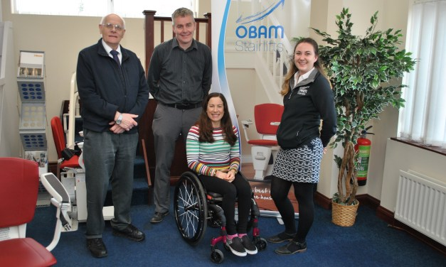 Handcyclist turns to Ironman with help from Obam Stairlifts