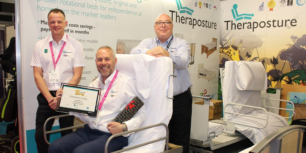 Theraposture bed wins OT Show Award for Excellence in Caring