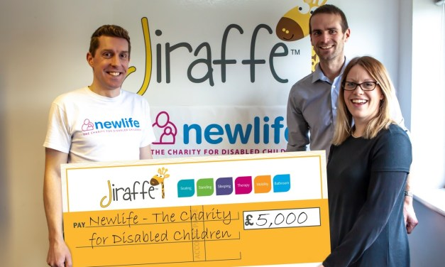 Children's charity Newlife enjoy a happy New Year thanks to Jiraffe's fundraising success