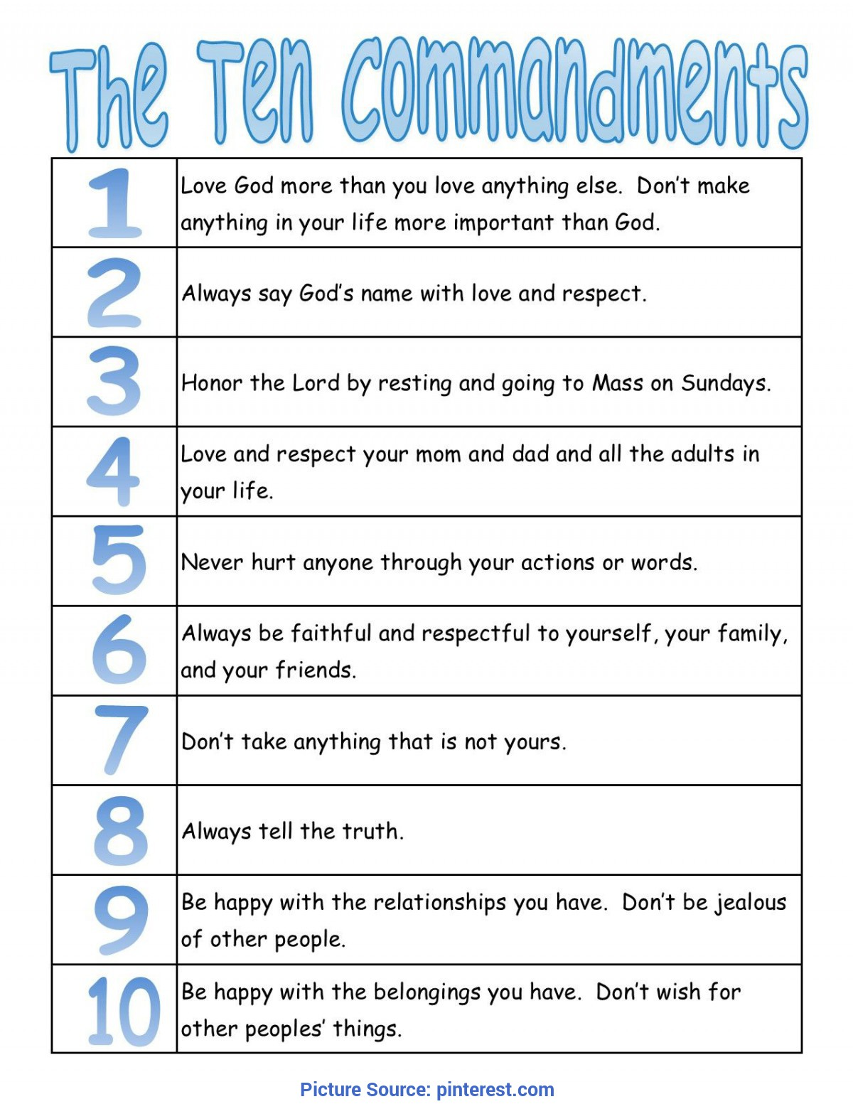 10 Commandments Printable Worksheets That Are Breathtaking