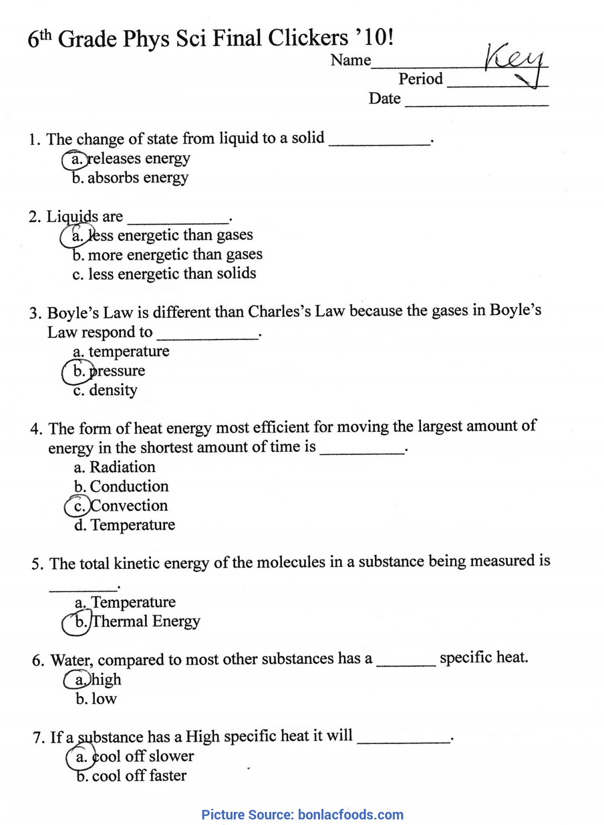 Briliant 6th Grade Science Lessons Free Worksheets For All