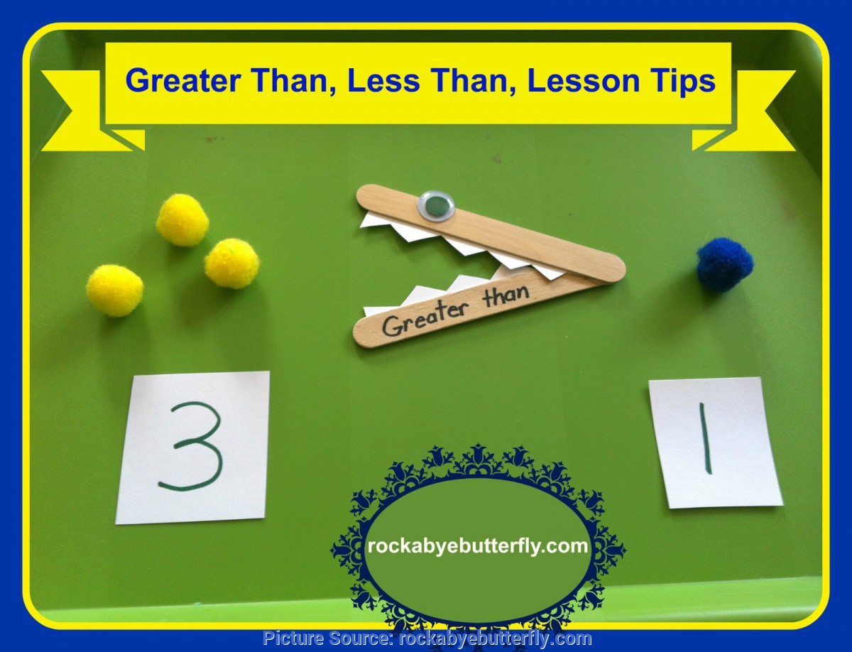 Briliant Kindergarten Lesson Plans Greater Than Less Than