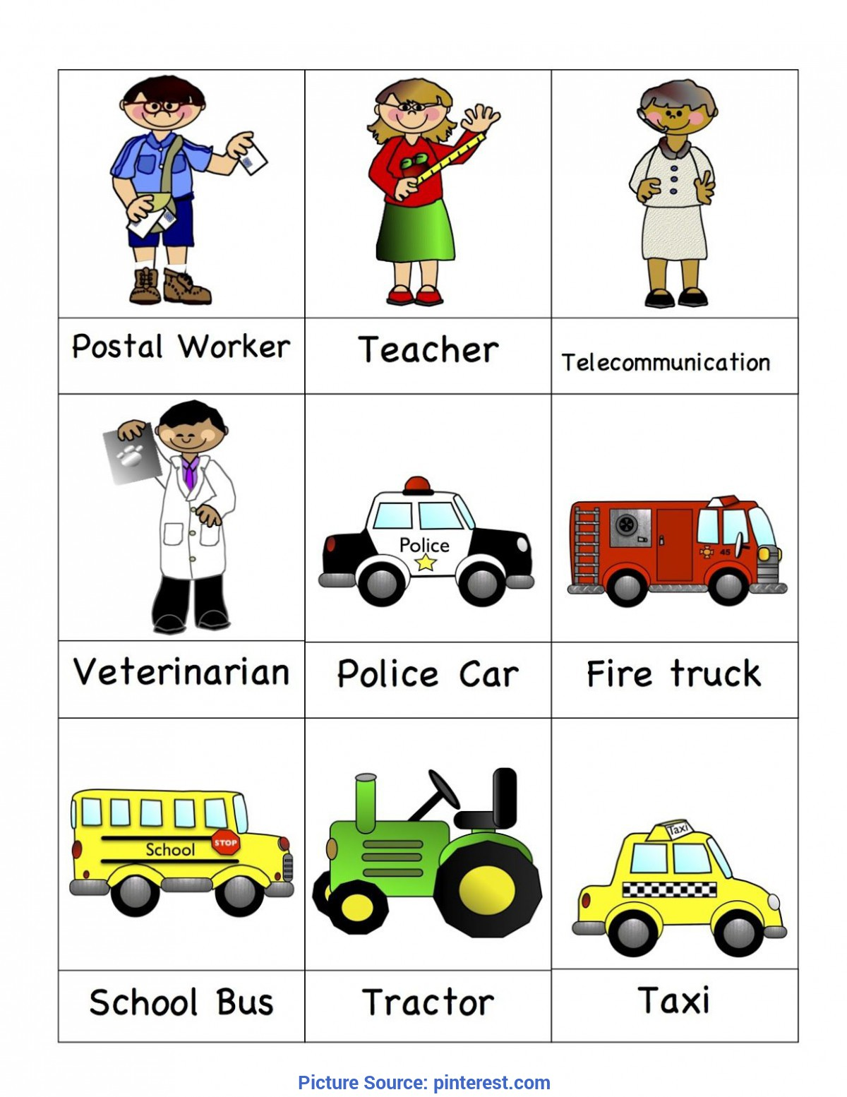 Briliant School Workers Worksheet Kindergarten Preschool